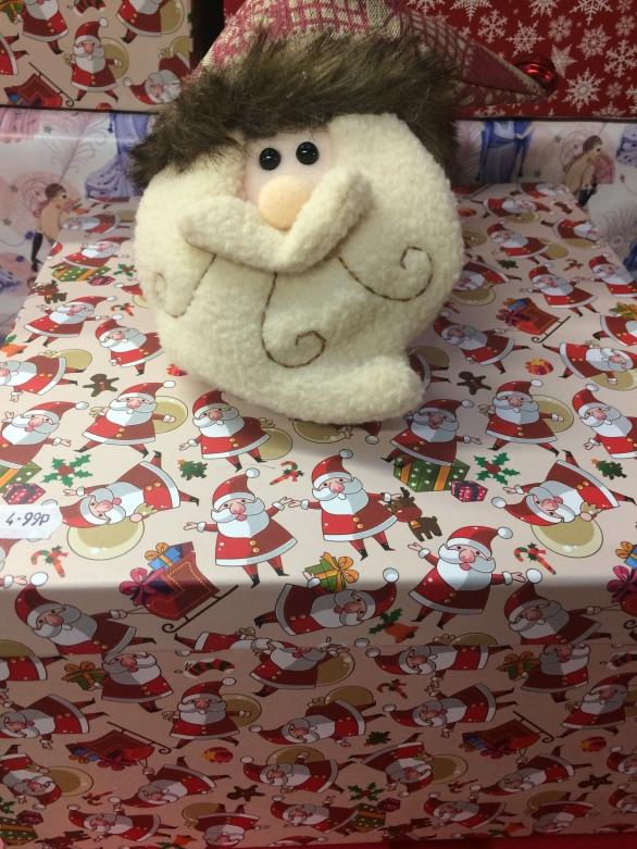Card box with snowman