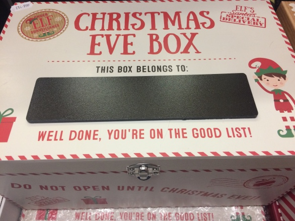 Christmas eve box with elf