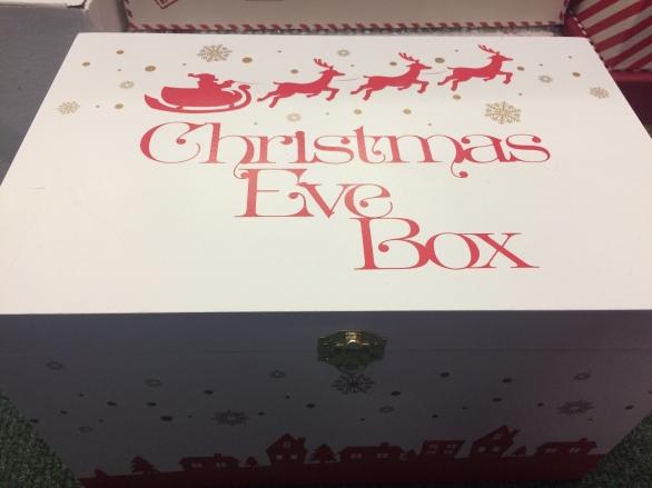 Christmas Eve box with father christmas