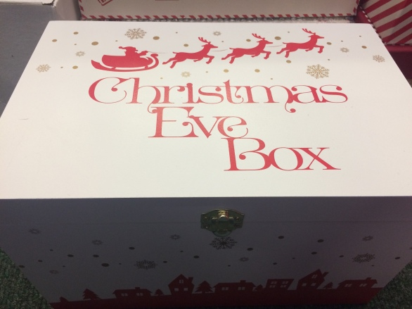 Christmas Eve box with father christmas