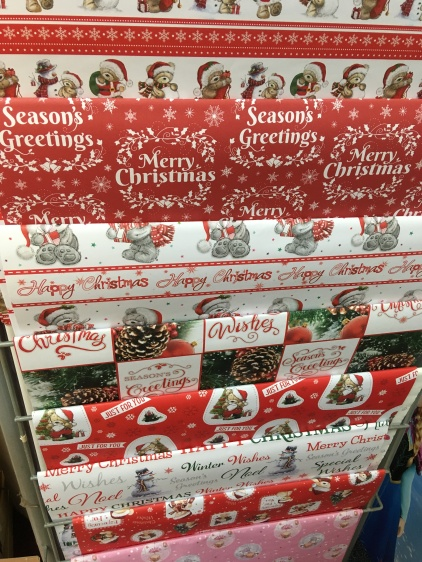 Christmas paper 8 for a £1.00