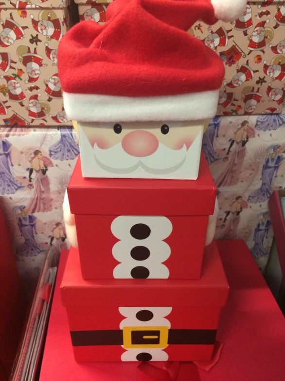 father christmas set of three boxes