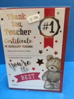 c - teacher you're the best cert
