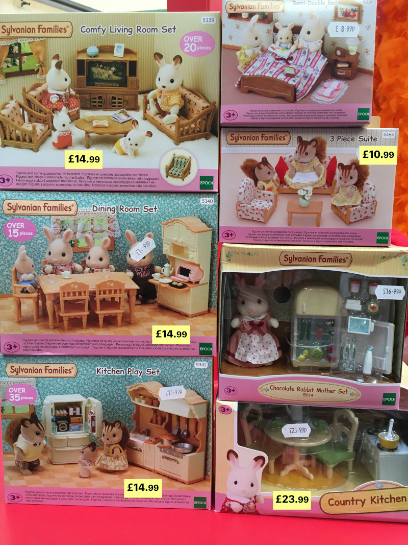 sylvanian family room sets