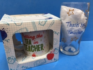 teacher mug and pint glass