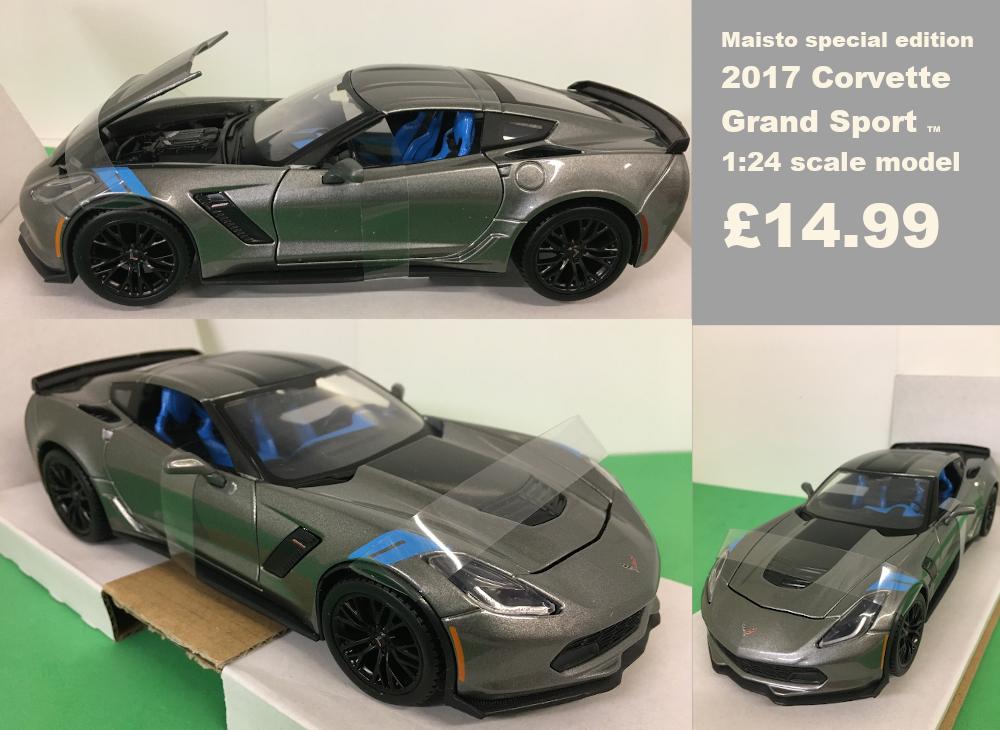 Corvette grand sport scale model £14.99