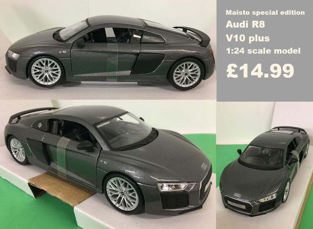 Audi r8 v10 plus scale model £14.99