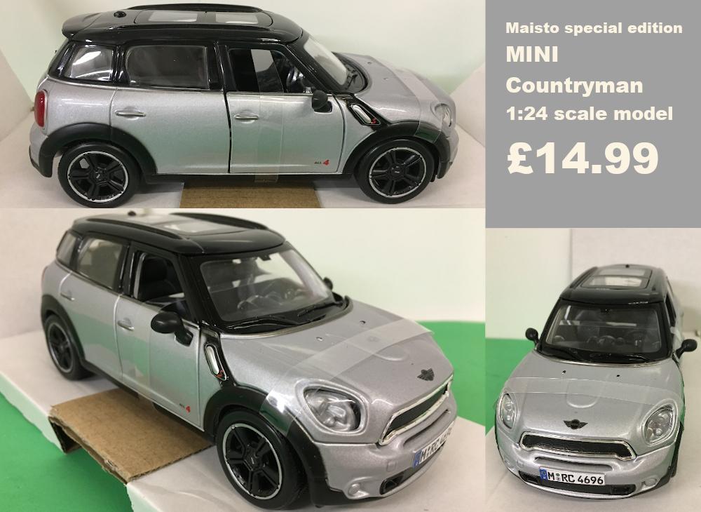 mini countryman scale model £14.99