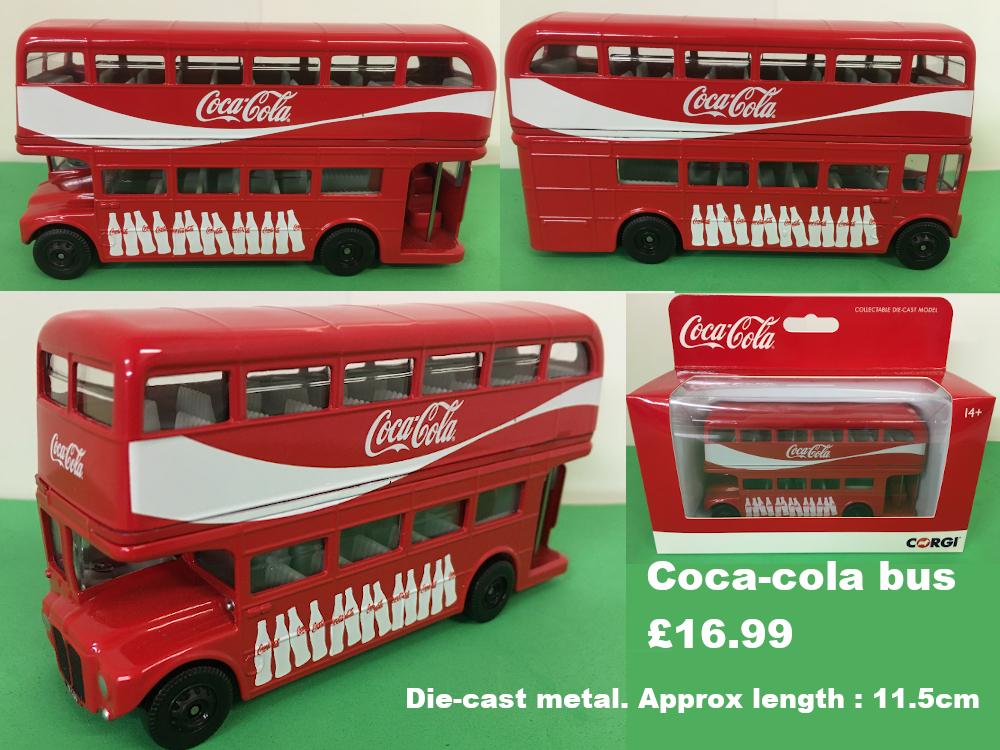 Coca-cola model bus £16.99