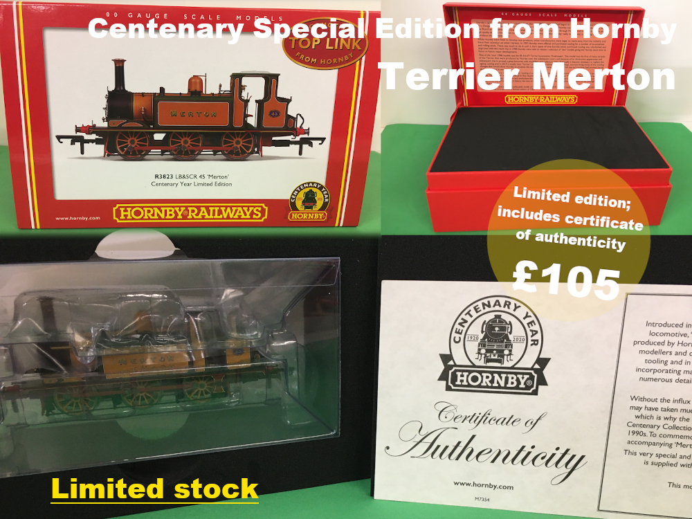 centenary special edition from Horby. LBSC terrier merton with certificate