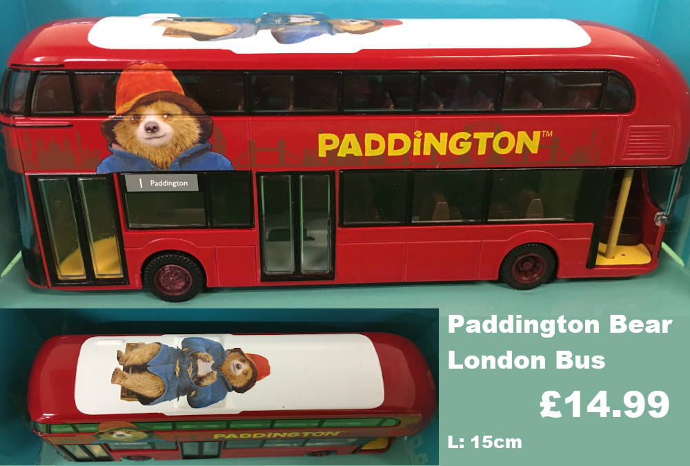 Paddington bear London bus £14.99
