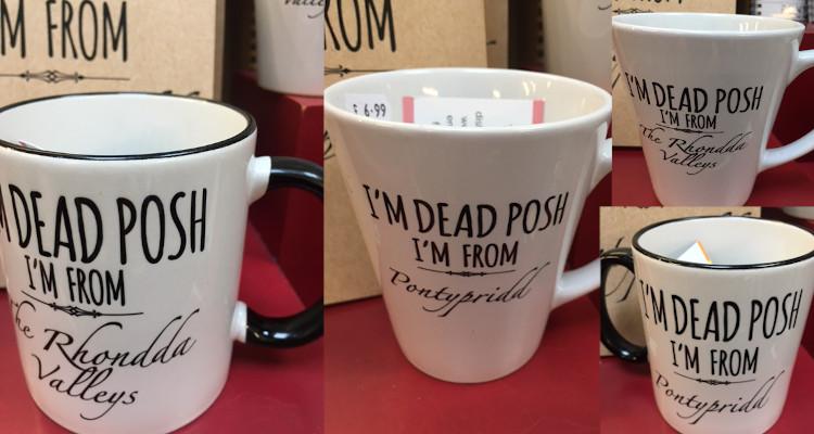 I'm dead posh I'm from Pontypridd mugs